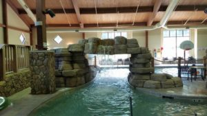Water-Fall at the Indoor Pool